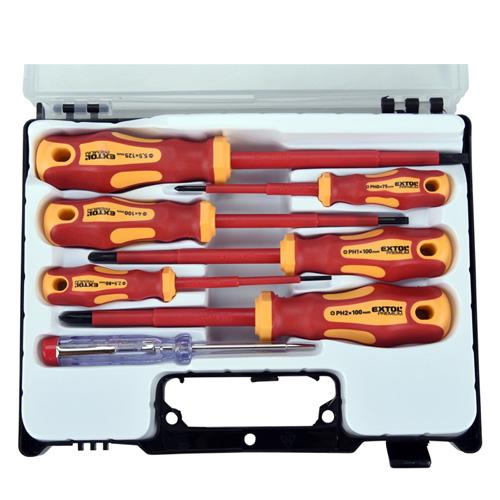 1994c6d6e34e9 Extol Premium 53087 Skrutkovače elektrikárske,1000V, VDE, 7dielna sada