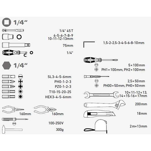 Extol Craft 6583 Sada náradia | Požičovňa náradia | Servis náradia a  strojov | Predaj náradia